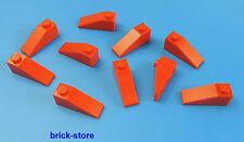 LEGO 1x3 TUILES en béton rouge / 10 PIÈCE
