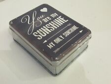 Sass & Belle little vintage style metal tin, You are my Sunshine