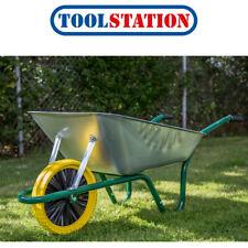Easiload Galvanised Wheelbarrow 85L Puncture Proof Wheel
