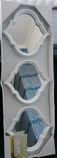 Set of Three White Moroccan Mirrors 23cm x 25cm NEW Wall Mirrors NEW 3 Shaped