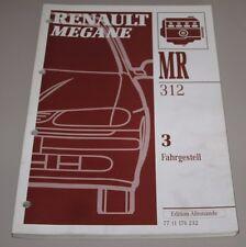 Werkstatthandbuch Renault Megane Typ BA Achsen Räder Reifen Lenkung ABS Teves!