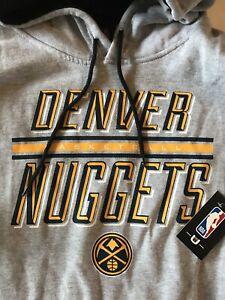 Denver Nuggets Men's Large Sweatshirt Gray New L NWT Hoodie NBA Nikola Jokic $75