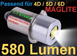 MAGLITE CREE LED Upgrade (580LM) Passend für 4D 5D 6D kostenloser Versand !!!