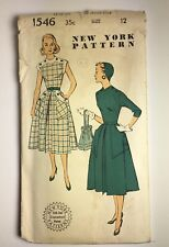 New ListingVintage 1950s~New York Sewing Pattern~ #1546 Women's Dresses~ Size 12