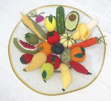 1 Hand Crochet FRUIT or VEGETABLE pretend PLAY FOOD amigurumi TODDLER FUN TOYS