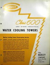 MARLEY Water Cooling Towers Air Conditioning Catalog ASBESTOS 1959