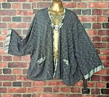NWT ONE O ONE Paris Open Front Loose Fitting Boho Cardigan Size PLUS 6 FR