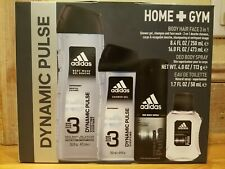 Adidas Dynamic Pulse Men's Home Plus Gym 4 Piece Gift Set Eau Spray Gel Deo Bod