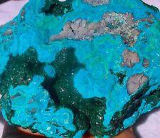 Chryscolla with Malachite Druzy Huge Double Specimen 762 Grams  DRC (Congo)