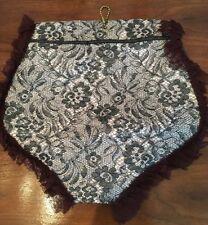 VTG Hosiery Hamper Laundry Bag Girdle Panties Quilted Black Lace Vinyl