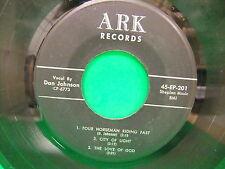 "Dan Johnson Four Horseman Riding Fast 1961 7"" 45 6 Track EP Record ARK 45 EP 201"