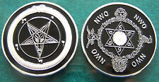 Baphomet Secret Society Occult NWO Illuminati Member High Priest Order Coin 666