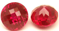 8 mm 3.1 cts Round Checkerboard Lab Created Ruby