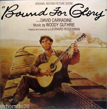 BOUND FOR GLORY Soundtrack - LP Woody Guthrie PROMO David Carradine