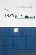 Premium Pool Table Billiard Cue Chalk 12 Pieces Blue