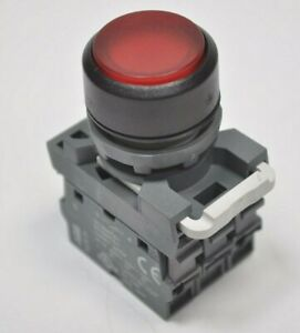 ABB Red Illuminated Push to Reset Pushbutton Switch with MCB-10 MLB-1 MCB-01