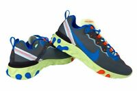 Nike Mens React Element 55 Running Shoes Gray Blue CT1142-700 Low Top 10.5 New