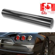 DIY 5D High Gloss Black Carbon Fiber Textured Car Vinyl Wrap Sheet Protective...