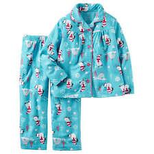NWT Carter's Girls Winter Pajamas Size 7 Pjs Fleece Snowman Sleep Pants Blue NEW