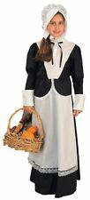 New Pilgrim Girl Costume Thanksgiving Halloween Colonial Days School Size Medium
