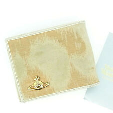 Vivienne Westwood Wallet Purse Trifold Orb White Beige Woman Authentic Used N143