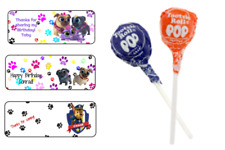 60 Puppy Dog Pals Sucker Lollipop Label Wrap Tag Birthday Party Favor Dum Dum