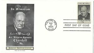 '65 FDC In Memoriam of Sir Winston Spencer Churchill on Chickering Jackson Cache