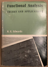 """""""Functional Analysis: Theory and Applications"""" R.E. Edwards 1966 1st Edition DJ"""
