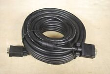LOT 18 SVGA VGA M/M LCD LED Monitor BLACK Cable 100-50-15-10-6 FT Male to Male