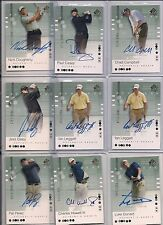 2002 UD SP Nick Dougherty Certified Autograph RC Card #97, #'d 1662/2999 BV $12