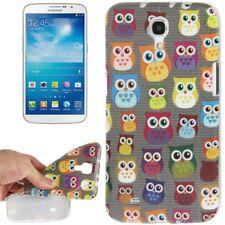 TPU Case für Samsung i9200 Galaxy Mega 6.3 Eulen bunt Etui Hülle Schutzcase