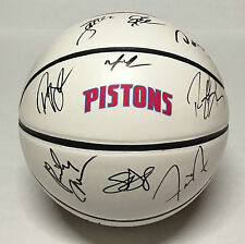 2016 DETROIT PISTONS Team Signed Autographed Logo Basketball COA! PLAYOFFS!!
