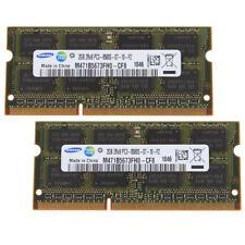 For Samsung 4GB 2x 2GB SODIMM DDR3 2G Laptop PC3-8500 1066MHz 204-pin Ram Memory