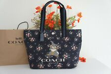 NWT Coach 91116 LIMITED ED X Disney Tote Bag With Rose Bouquet Print & Thumper