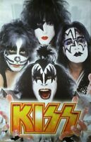"KISS Faces Poster Funky Enterprise #9083 New Old Stock 34"" X 23"""