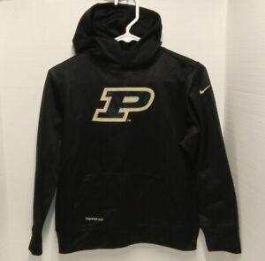 Nike THERMA-FIT Purdue Boilermakers NCAA Black Hoodie - Youth Med **EUC**