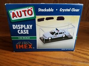 1/43 Police IMEX Display Case with Black Base 2x Pack