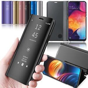 Handy Hülle Samsung Galaxy Clear View Case Flip Cover Mirror Schutz Hülle Tasche