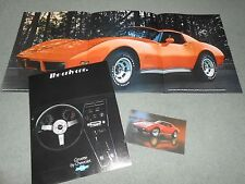 1977 CHEVROLET CORVETTE NOS BROCHURE + ORIGINAL '77 'VETTE POSTCARD, 2 For 1