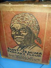 Antique AUNT JEMIMA Mills Co. Pancake Flour color litho 24 pc master carton 1917