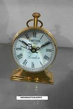 "Vintage Collectible Maritime 4"" Brass Desk Clock Nautical Table Clock"