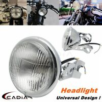 Metal Motorcycle Round H4 Headlight w/Bracket For Cafe Racer Honda GN125 CN125