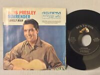 Elvis Presley EX Surrender Lonely Man ORIG 47-7850 +PICTURE SLEEVE