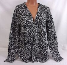 k. by Kersh Knitted Cardigan Black & White Size Medium PF162022-TG 350G