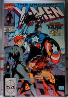 UNCANNY X-MEN #268 3X-SIGNED! JIM LEE+ CHRIS CLAREMONT marvel comics WOLVERINE
