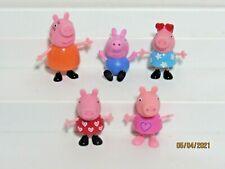 Peppa Pig George Mummy Peppa Heart Sunglasses PVC Lot of 5 Figures Toys