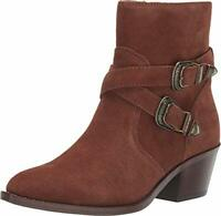 Patricia Nash Women's Shoes Sandra Leather Pointed Toe Ankle, Tobacco, Size 7.0