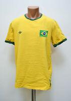 BRAZIL NATIONAL TEAM HOME FOOTBALL SHIRT JERSEY ADIDAS ORIGINALS SIZE XL ADULT