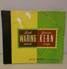 """Fred Waring Vinyl LP Records 10""""  3 Records 78 1946"""