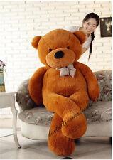 Big Dark Brown Teddy Bear Plush 72in. Giant Soft Toy Birthday Cushion Gift 180cm